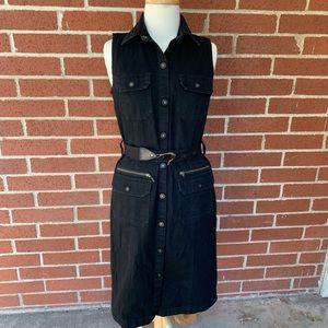 Ralph Lauren Black Denim sleeveless dress